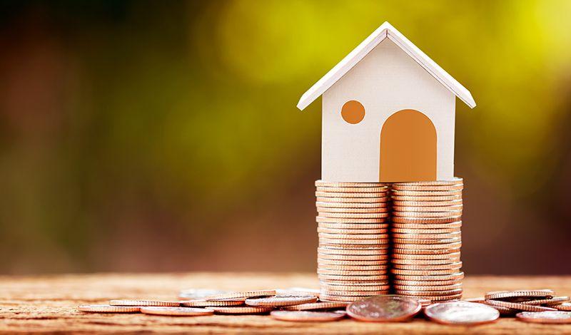 Haus auf Geld
